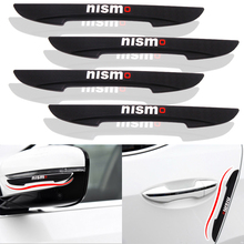 4pcs Car Styling Car Door Anti Scratches Anti-Collision Strip Protector Case For Nissan Juke Tiida Teana GTR GTR 350Z 370Z 240SX red led lamp laser anti fog light 12v car warning lights for nissan 350z 370z ad almera classic altima armada avenir juke nismo