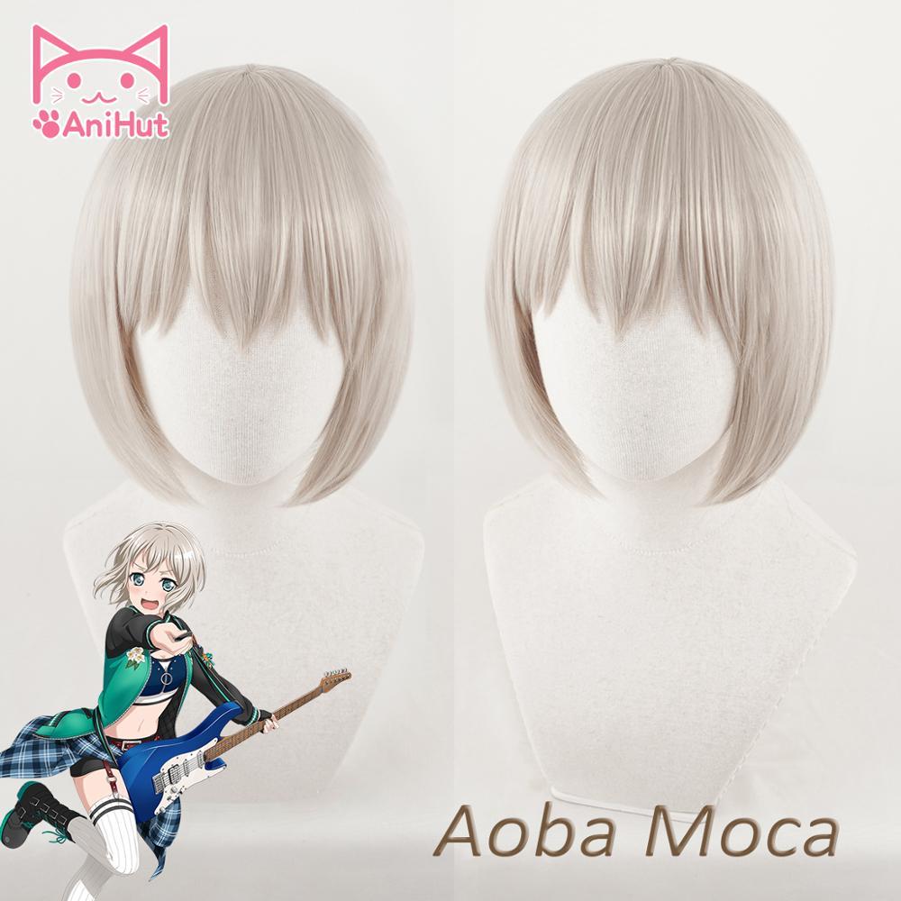【AniHut】Aoba Moca Wig BanG Dream! Cosplay Wig Synthetic Griege Hair BanG Dream Aoba Moca Cosplay