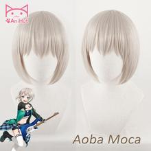 【AniHut】Aoba Moca peruk patlama rüya! Cosplay peruk sentetik Griege saç Bandori Aoba Moca Cosplay