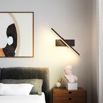 wall light LED personality bedroom bedside lamp Nordic modern minimalist creative stair aisle living room revolve wall lamp bokt led bedroom bedside wall lamp nordic minimalist macaron background wall light for living room bedroom aisle hallway