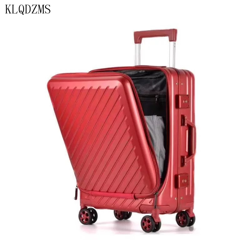 KLQDZMS PC Travel Suitcase  Rolling Luggage With Laptop Bag Universal Wheel Men Business Trolley Case