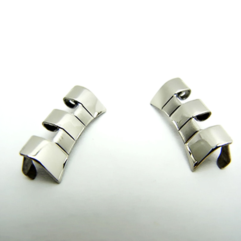 <font><b>19mm</b></font> 2PCS /1 Pair Watch Accessories For <font><b>PRC200</b></font> T17T461T014 High Quality Stainless Steel Watch Band Strap Head / Head ear / Hom image