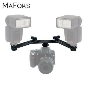 """Image 1 - 13 """"33cm e n e n e n e n e n e n e n e n e n e hızlı hafif çift sıcak ayakkabı flaş Speedlite montaj braketi tutucu Canon Nikon Pentax Olympus için sigma Yongnuo"""
