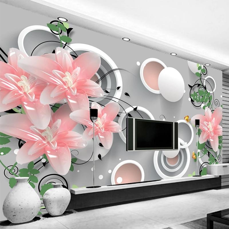 Custom 3D Photo Wallpaper Home Decor Modern 3D Jade Carving Flowers Living Room Sofa TV Background Wall Murals Papel De Parede