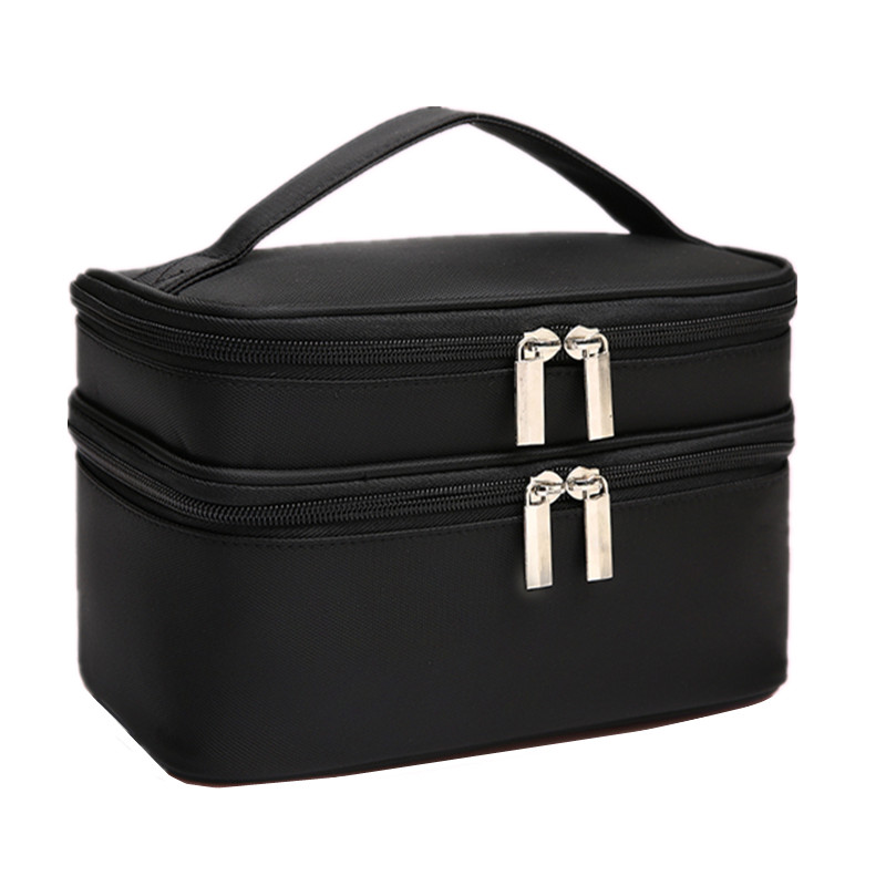 Women Large Cosmetic Bag Box Waterproof Oxford Make Up Case Travel Organizer Necessary Beauty Vanity Toiletry Wash Makeup Pouch