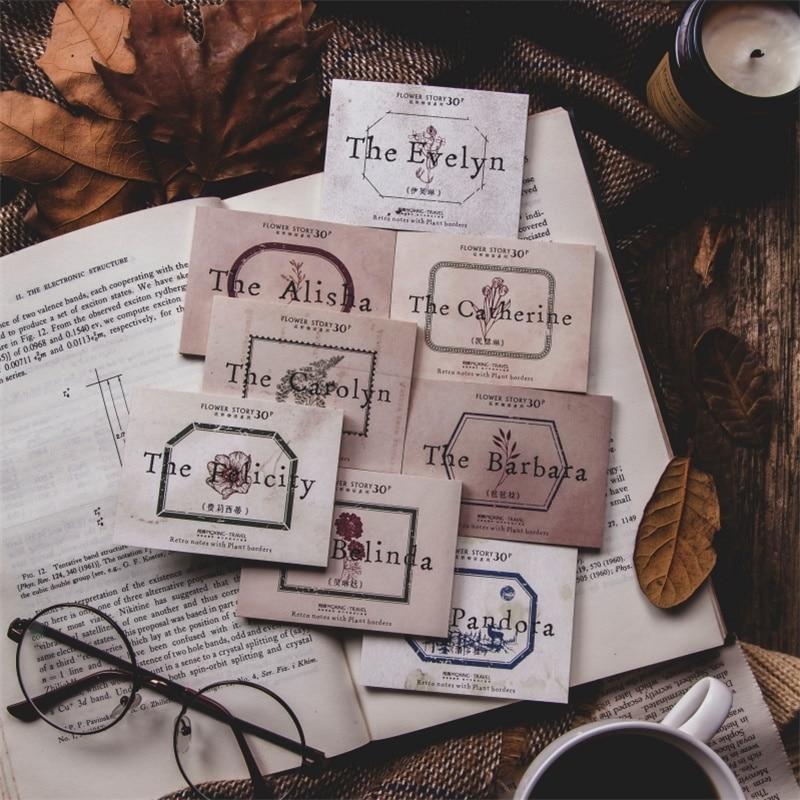 30 мини креативный блокнот ретро tearable notes kawaii канцелярский