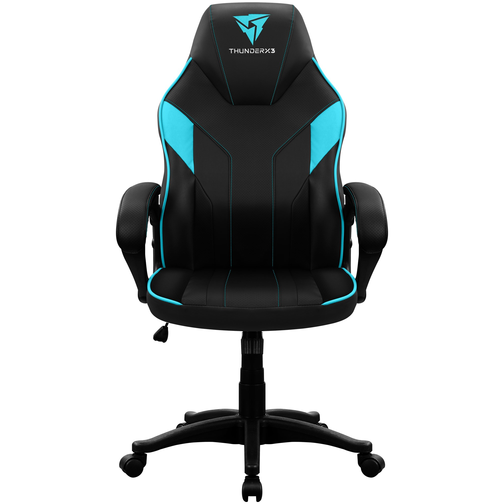 ThunderX3 EC1, Chair Gaming Ergonomic, Technology AIR, Armrest Padded, Adjustable Height, Cyan
