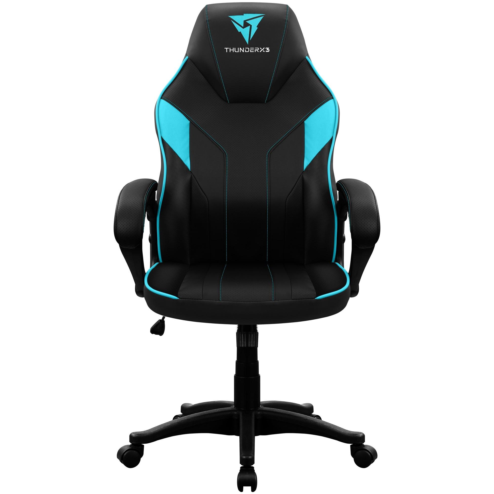 ThunderX3 EC1, Chair Gaming Ergonomic, Technology AIR, Armrest Padded, Adjustable Height, Cyan