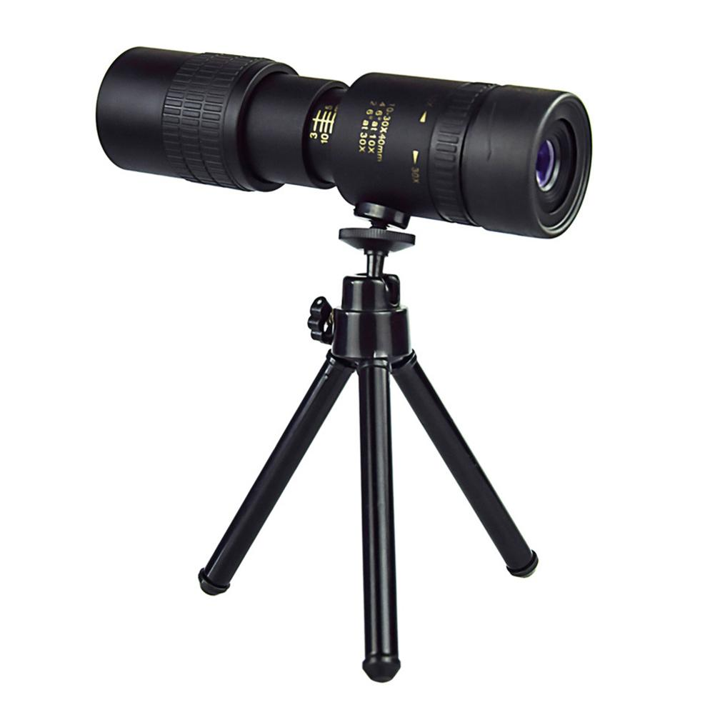 Tripod - 4K 10-300X40MM Super Telephoto Zoom Monocular Telescope Waterproof for Smart Phones Bird Watching/ Hunting/ Camping