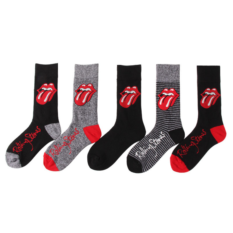 Harajuku Hip Hop Cartoon Men Socks Unisex Funny Tongue Printed Combed Cotton Sokken Trendy Tide Creative Skateboard Happy Socks