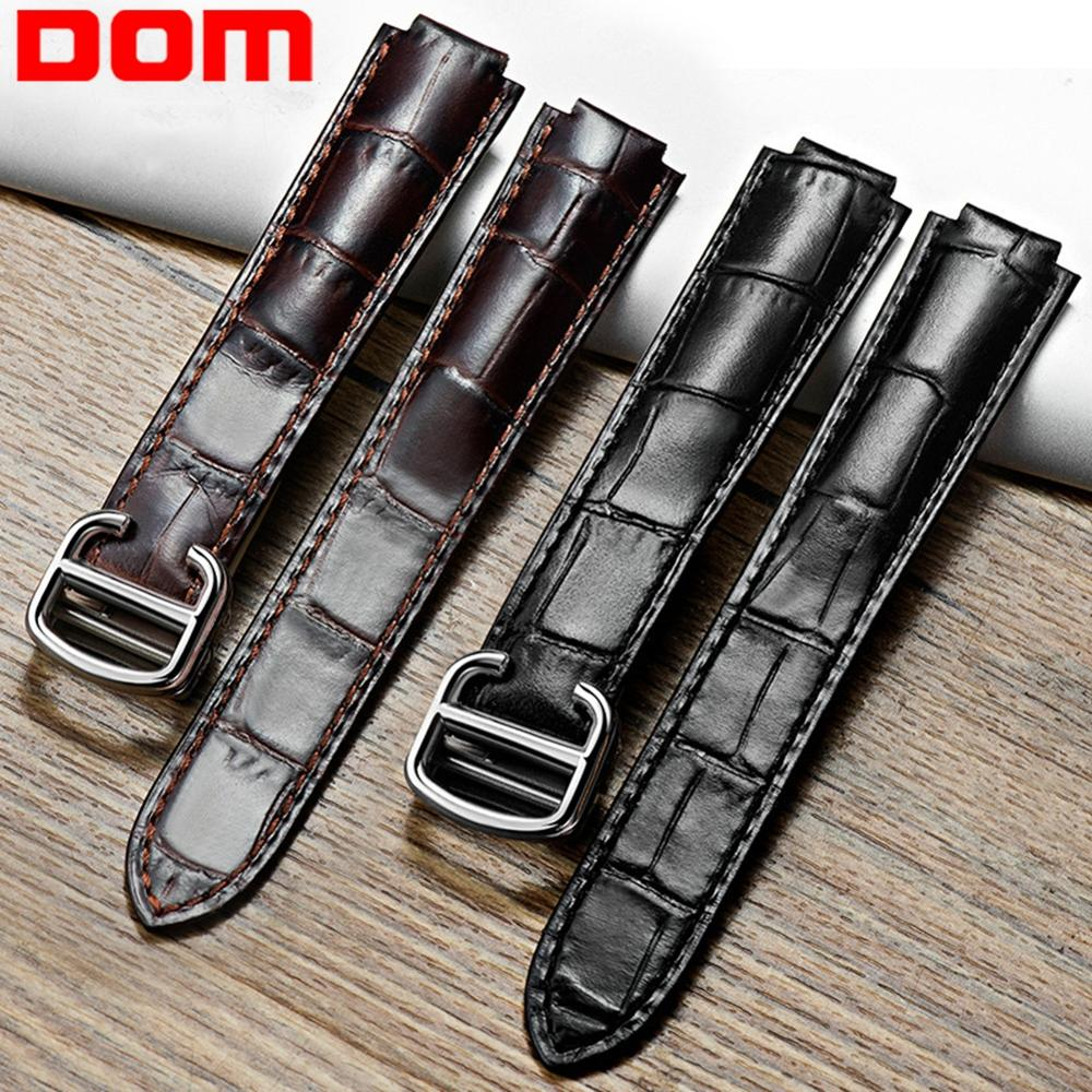 DOM Watch Band Genuine Leather Straps Watchbands 8mm 11mm 12mm 14mm Watch Accessories Women Belt band