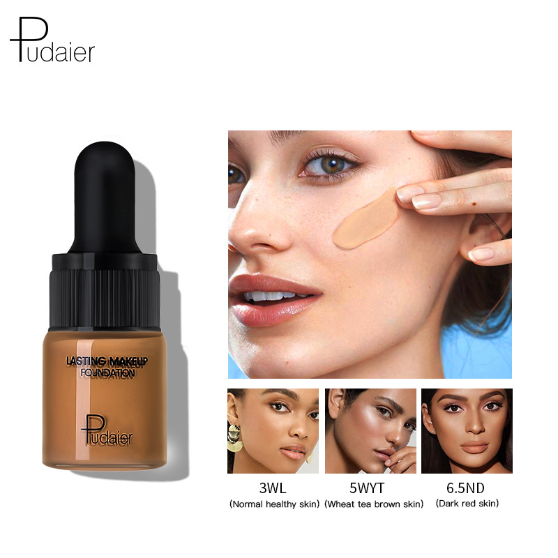 PUDAIER 40 Color Longwear Face & Body Liquid Foundation Full Coverage Hydrating Face Drop Sample Foundation Cream 5ml(China)