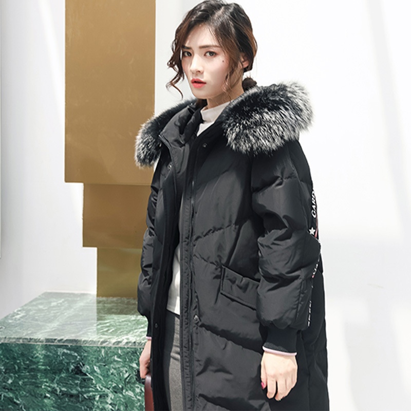 90% White Duck Down Jacket Large Raccoon Fur Hooded Women Winter Clothes 2020 Korean Thick Warm Long Down Coat Hiver 6837