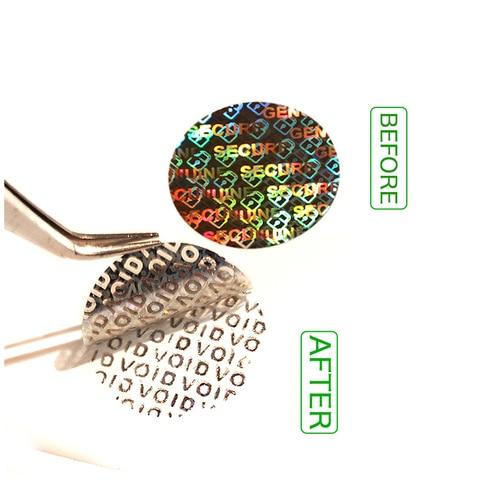 adesivo laser vazio etiqueta original a prova de agua redondo garantia adesivos customizavel e design