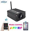 Музыкальный контроль оптоволоконный светильник источник мобильное приложение управление смартфоном RGBW 16 Вт светильник двигатель RF управл...