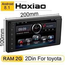 Rádio gps para carro, rádio com android 8.1, reprodutor de gps para toyota camry viso corolla wish altis nissan tamanho 200*100 player para carros com gps android