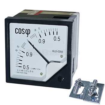 1Pcs 6L2 AC Analog COS Power Factor Meter 5A 6L2-COS Panel meter AC100V 220V 380V Electric Meters