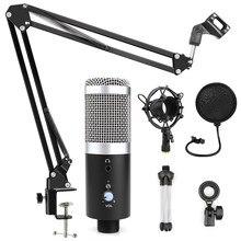 Micrófono de condensador bm 800, micrófono profesional USB para ordenador, Karaoke, grabación de estudio, bm800, para PC, Podcast