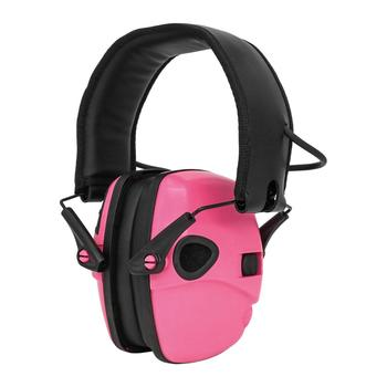 Foldable tactical electronic earmuffs outdoor hearing protection noise-cancelling headphones tactical shooting  headphones  pink tactical headset active noise cancelling headphones shooting intelligent soundproof earmuffs pickup noise prevention