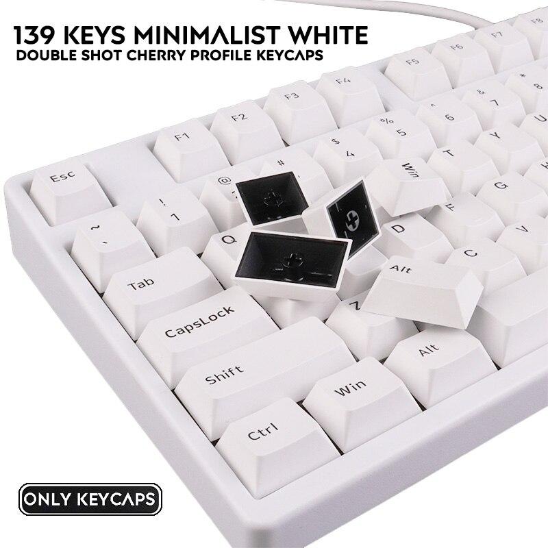 PBT Keycap 139 ключей Вишневый Профиль Двойной Выстрел Keycaps для Filco Cherry Ducky IKBC Механическая игровая клавиатура|Аксессуары для мышей и клавиатур|   | АлиЭкспресс