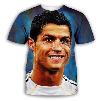 Tessffel Cristiano Ronaldo Athletes Fitness Streetwear Harajuku Tracksuit New Fashion Swag 3DPrint Unisex T-shirts Men/Women s-4 1