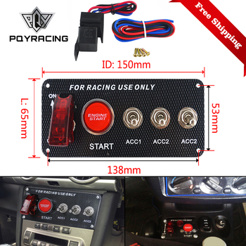 Ignition Switch Panel DC 12V 15*6.6*6.3cm For Racing Car LED Toggle Engine Start Push Button Accessory Dropship QT313