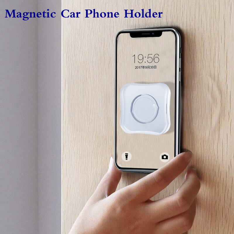 5pcs/1pc Magnetic Car Phone Holder Universal Wall Desk Metal Magnet Sticker Multi-function Car Mount Support For IPhone TSLM1