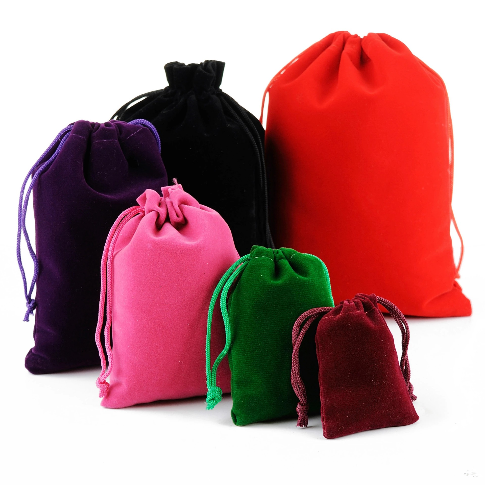 Custom Velet Suede Drawstring Bag With Logo Printing 17*23CM