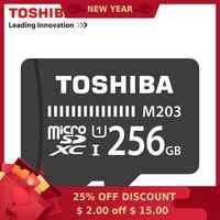 Carte mémoire TOSHIBA 128 go 64 go 256 go SDXC Max 100 mo/s Micro carte SD SDHC-I 32 go 16G U1 Class10 vérification officielle