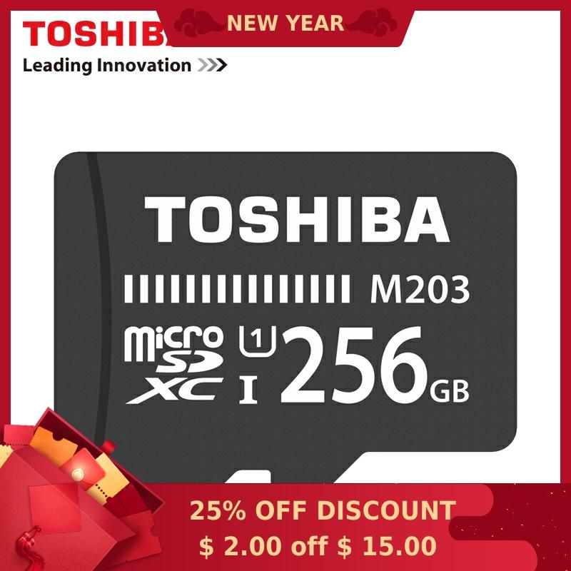 TOSHIBA Memory Card 128GB 64GB 256GB SDXC Max UP 100MB/s Micro SD Card SDHC-I 32GB 16G U1 Class10 Official Verification