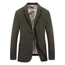 Hot Sale Mens Korean Slim Fit Arrival Cotton Suit Jacket Fit Coat Casual Button Solid Color Jacket