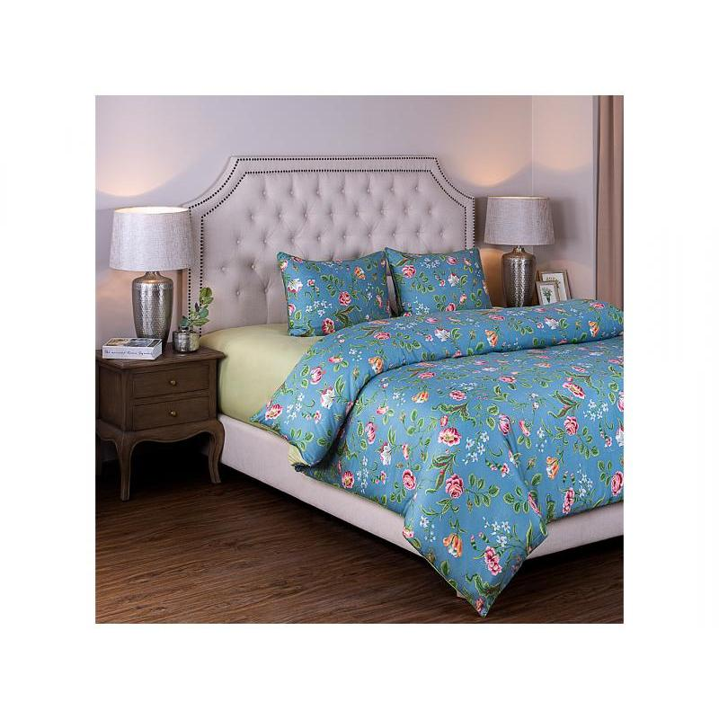 Bedding Set double-euro SANTALINO, Valencia, blue/green