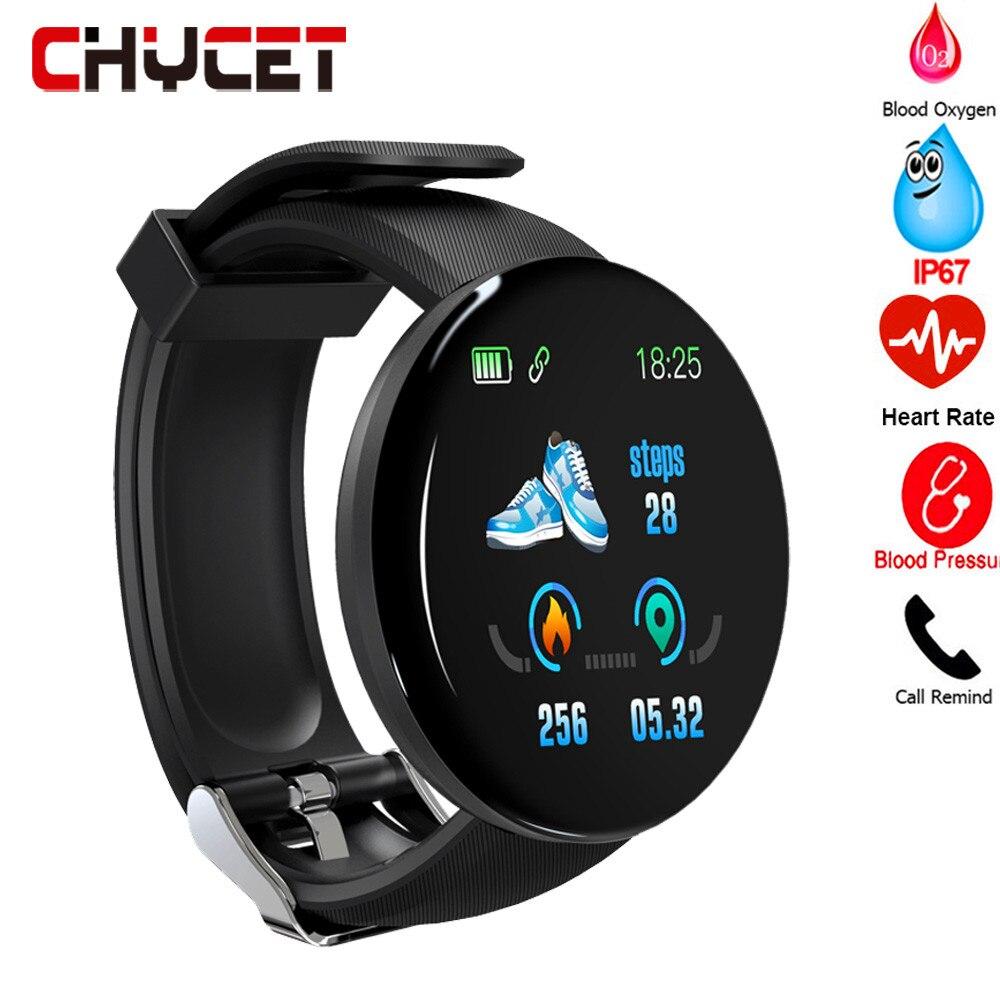 D18 Smart Watch 2019 Sleep Tracker Heart Rate Tracke Smart Watch Men Blood Pressure Sport Smartwatch Blood Oxygen Sports Watch