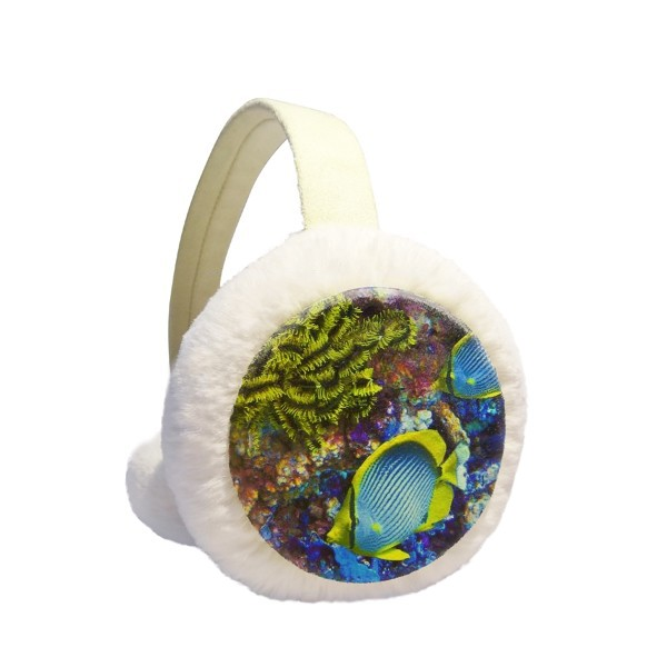 Ocean Colorful Fish Science Nature Picture Winter Earmuffs Ear Warmers Faux Fur Foldable Plush Outdoor Gift