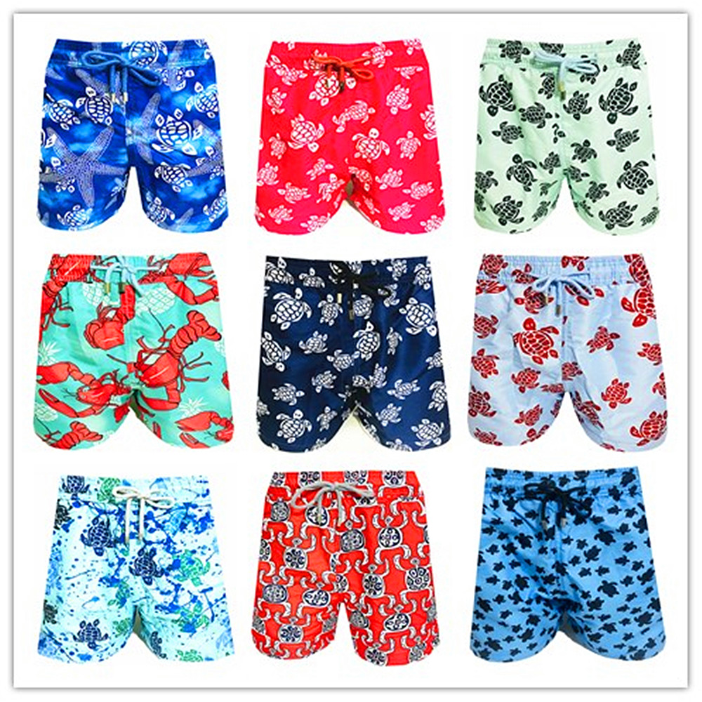 Hot 2020 Brand Brevile Pullquin Beach Board Shorts Men Turtles Swimwear Starfish Lobster Mens Hawaiian Shorts Plus Size M-XXXL