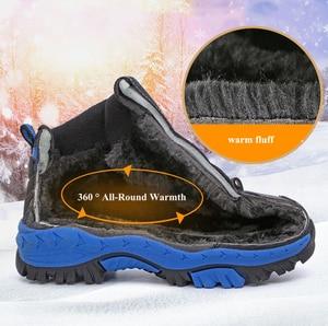 Image 5 - Baskets imperméables pour enfants, chaussures de Sport imperméables, montantes, antidérapantes, à la mode, en caoutchouc, pour garçons, hiver chaussures décontractées