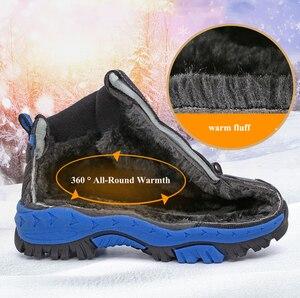 Image 5 - Boys Casual Shoes Winter Warm Children Sneakers High top Anti Slip Kids Trainers Waterproof Sport Footwear Fashion Autumn Rubber