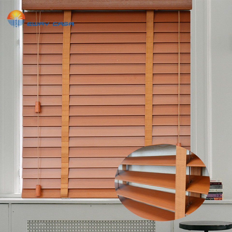 Real wood slats Venetian blinds Customized Window Wooden Blinds Vertical  blinds MB TM