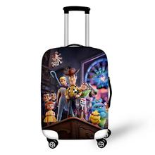 ELVISWORDS Fashion Water-proof Suitcase Cover Cartoon Toy Story 4 Pattern Luggage Girls Elastic Travel Protector