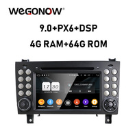 PX6 DSP Android 9.0 4GB RAM 64GB 8 core Car DVD Player 2DIN Wifi BT RDS RADIO GPS Map Benz SLK class R171 SLK200/280/300/350/55
