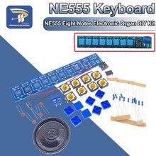 Diy kits eletrônicos conjunto ne555 teclado oito notas módulo órgão eletrônico peças de solda prática diversão piano elétrico aprendizagem
