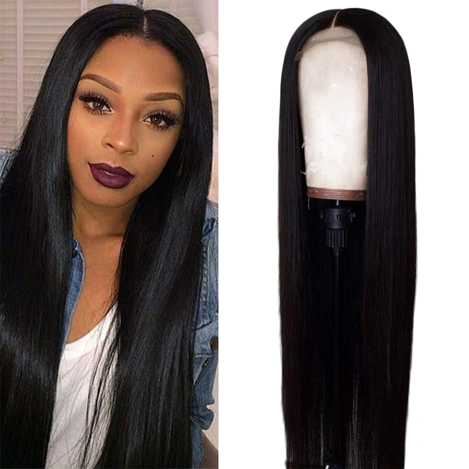 Long Straight 13X4 Lace Front  Wig 30 32 Inches Pre Plucked 13x4 Lace Closure Wigs    2