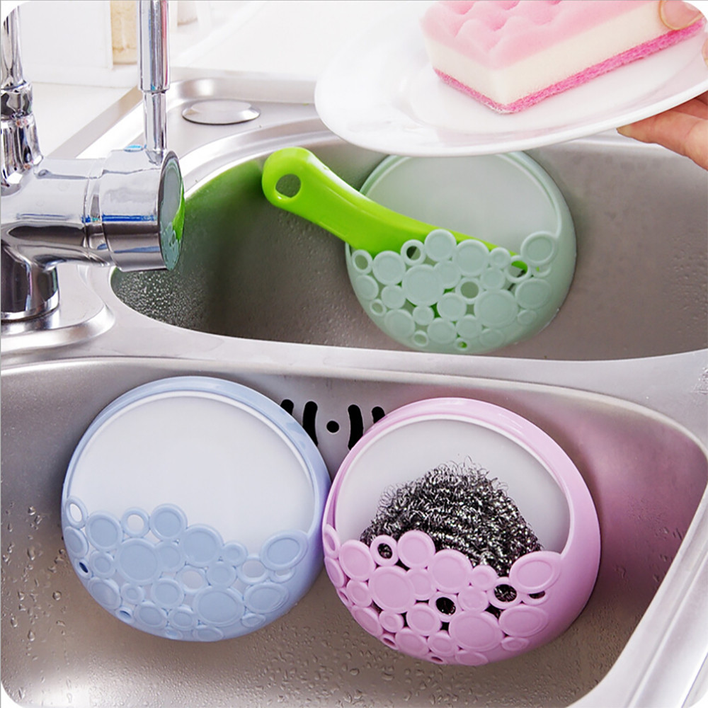 Plastic Home Kitchen Bathroom Toothbrush Holder Wall Mount Holder Sucker Suction Cups Organizer 1 Pc