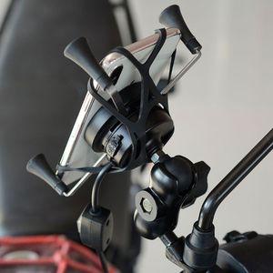 Image 4 - 12 فولت دراجة نارية الهاتف QC3.0 USB تشى شحن سريع شاحن لاسلكي قوس حامل