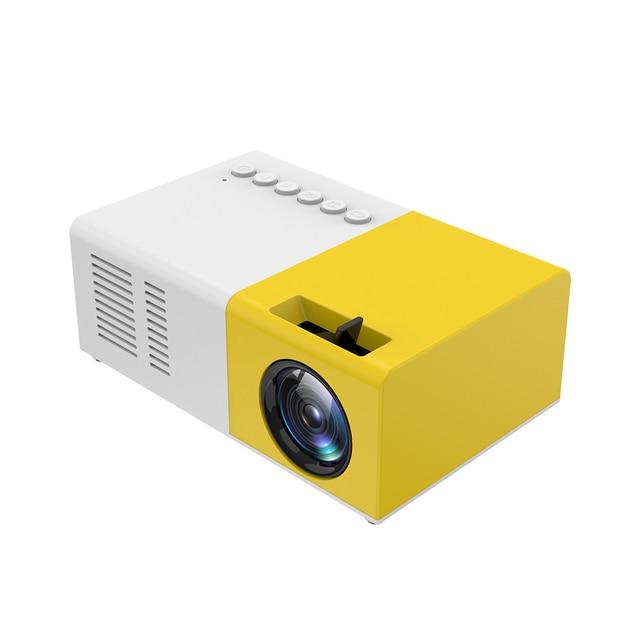 Taşınabilir J9 YG 300 Mini projektör 1080P desteği 1080P AV USB SD kart USB Mini ev projektör Mini cep beamer