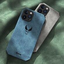 Custodia protettiva per cellulare in pelle scamosciata PU antiurto di lusso per iPhone 12 Pro Max Mini 11 Cover Bag Fundas Coque