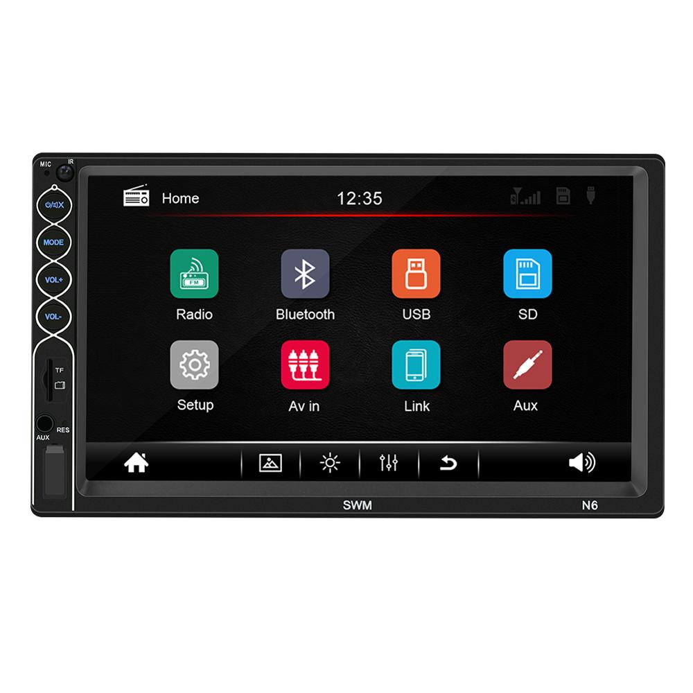 2 DIN Car Multimedia Player N6 Mirror Link 7 inch Autoradio Touch Screen Stereo MP5 Player Bluetooth USB AUX FM Rear View Camera
