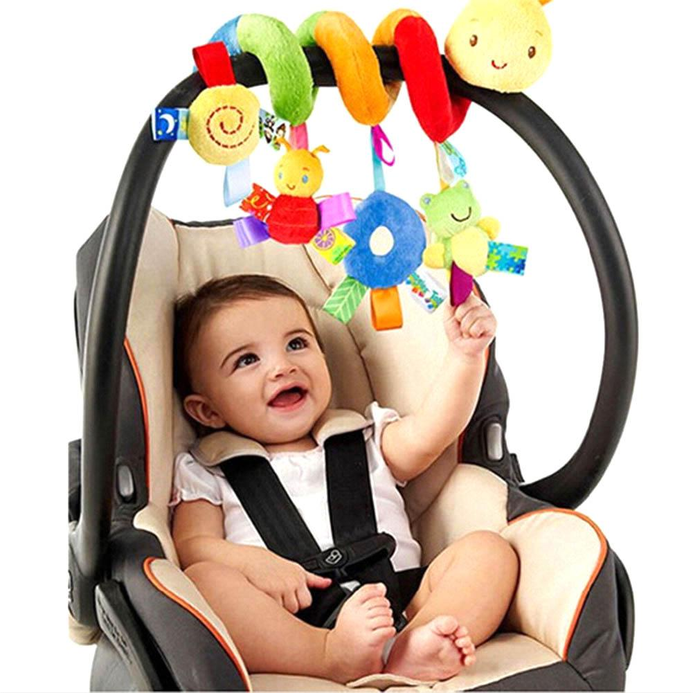 Infant Baby Cute Activity Cartoon Stroller Crib Pram Spiral Rattle Comforter Doll Toy Baby Colorful Toy Multi-color Design