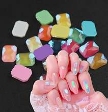 30/100 шт декоративные камни для ногтей 6x8 мм