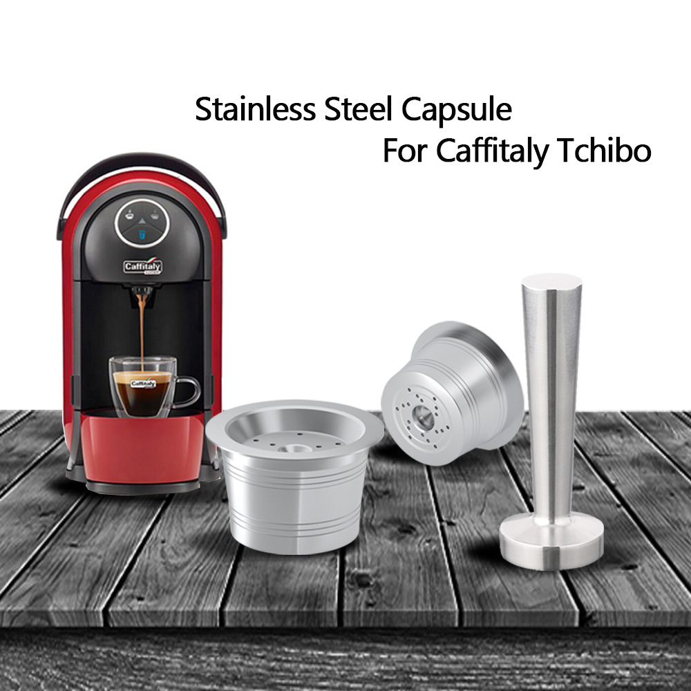 Stainless Steel Caffitaly Coffee Reusable Capsule Wacaco Minipresso CA Maker Refillable Coffee Filter For Tchibo Cafissimo ALDICoffee Filters   -